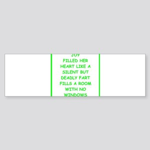 bad writing Bumper Sticker
