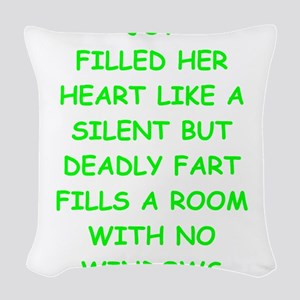 bad writing Woven Throw Pillow