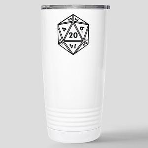 D20 White Travel Mug