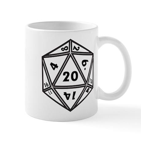 D20 White Mugs