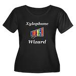 Xylophon Women's Plus Size Scoop Neck Dark T-Shirt