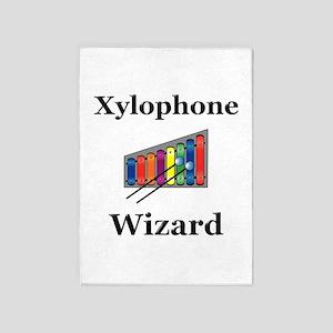 Xylophone Wizard 5'x7'Area Rug