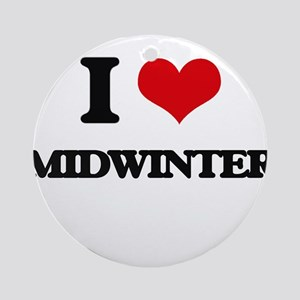 I Love Midwinter Ornament (Round)