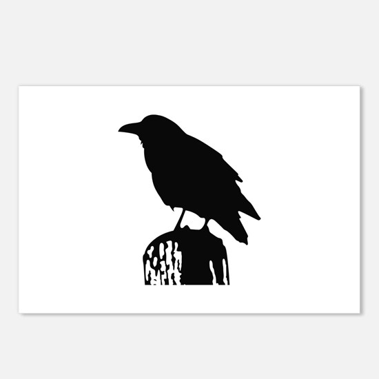 RAVEN SILHOUETTE Postcards (Package of 8)