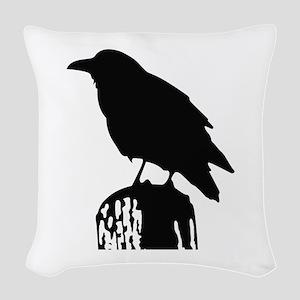 RAVEN SILHOUETTE Woven Throw Pillow
