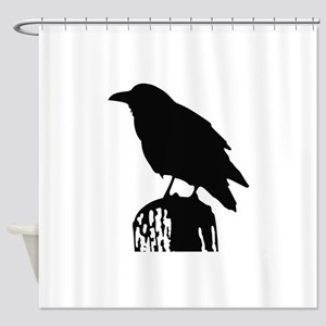 RAVEN SILHOUETTE Shower Curtain