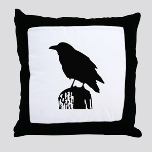 RAVEN SILHOUETTE Throw Pillow