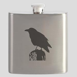 RAVEN SILHOUETTE Flask