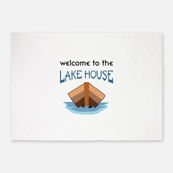 WELCOME TO THE LAKE HOUSE 5'x7'Area Rug