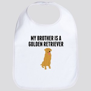 My Brother Is A Golden Retriever Bib