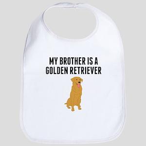 My Brother Is A Golden Retriever Bib