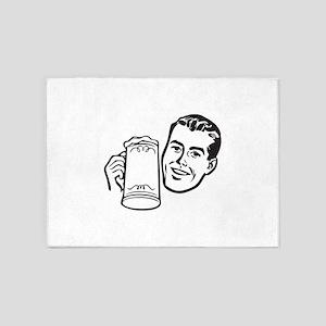 Beer guy 5'x7'Area Rug