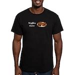 Waffles Guru Men's Fitted T-Shirt (dark)