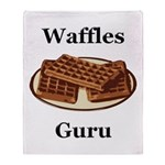 Waffles Guru Throw Blanket