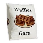 Waffles Guru Burlap Throw Pillow
