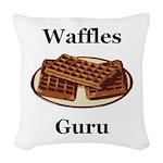 Waffles Guru Woven Throw Pillow