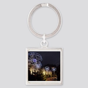 Paris Holiday Lights Christmas Market Ch Keychains
