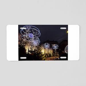 Paris Holiday Lights Christ Aluminum License Plate