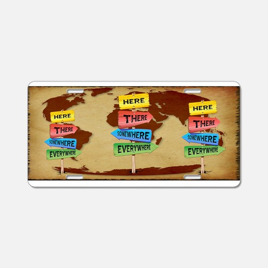Directions Panels Wanderlust Aluminum License Plat