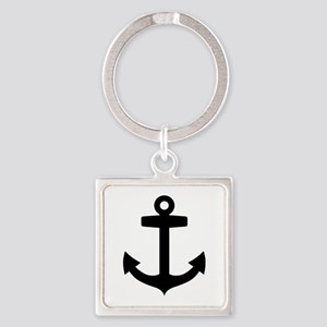 Anchor ship Square Keychain