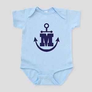 Anchor Monogram M Infant Bodysuit