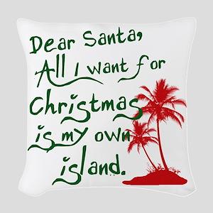 Christmas Island Woven Throw Pillow
