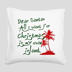 Christmas Island Square Canvas Pillow