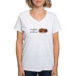 Waffles Goddess Women's V-Neck T-Shirt