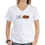 Waffles Goddess Women's V-Neck T-Shirt