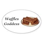 Waffles Goddess Sticker (Oval 50 pk)