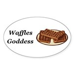 Waffles Goddess Sticker (Oval 50 pk)