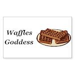 Waffles Goddess Sticker (Rectangle 10 pk)