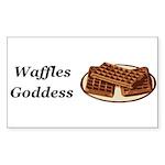 Waffles Goddess Sticker (Rectangle 50 pk)