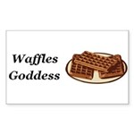 Waffles Goddess Sticker (Rectangle 50 pk)