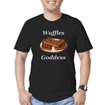 Waffles Goddess Men's Fitted T-Shirt (dark)