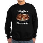 Waffles Goddess Sweatshirt (dark)