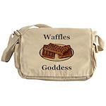 Waffles Goddess Messenger Bag