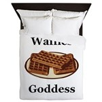 Waffles Goddess Queen Duvet