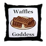 Waffles Goddess Throw Pillow