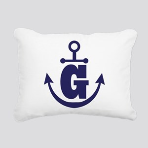 Anchor Monogram G Rectangular Canvas Pillow