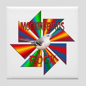 Mockingbirds Rock Tile Coaster