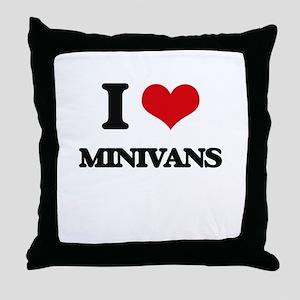 I Love Minivans Throw Pillow