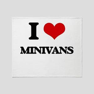 I Love Minivans Throw Blanket