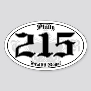 """PHILLY 215 OLD SKOOL"" Oval Sticker"