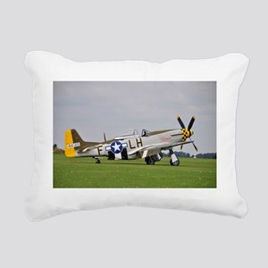 P-51 Mustang (2) Rectangular Canvas Pillow
