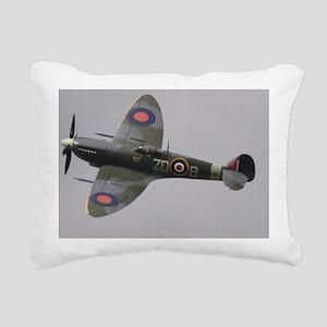 Spitfire Mk.IXe Rectangular Canvas Pillow