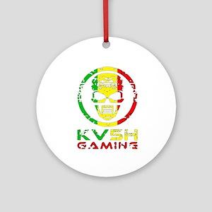 KV5H GAMING SOCIAL Logo Round Ornament