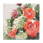 Orange Rose Arrangement Tile Coaster