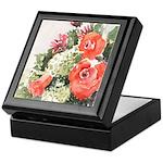 Orange Rose Arrangement Keepsake Box