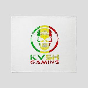 KV5H GAMING SOCIAL Logo Throw Blanket
